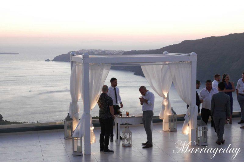 WEDDING DJS IN GREECE SANTORINI BEST WEDDING CEREMONY VIEW