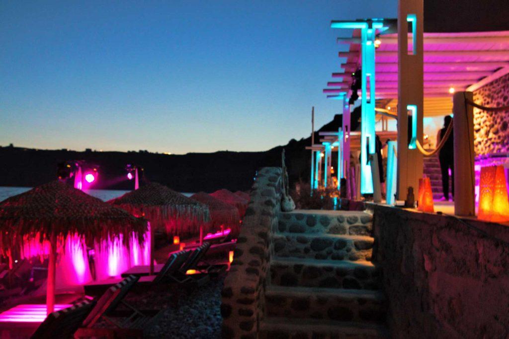 WEDDING DJS IN GREECE SANTORINI AKRO ARCHITECTURE LIGHTING UPLIGHTS