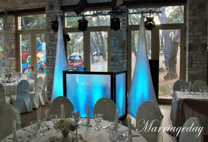 WEDDING DJS IN GREECE SANTORINI MYKONOS CUSTOM MONOGRAM PROJECTION GOBO 2