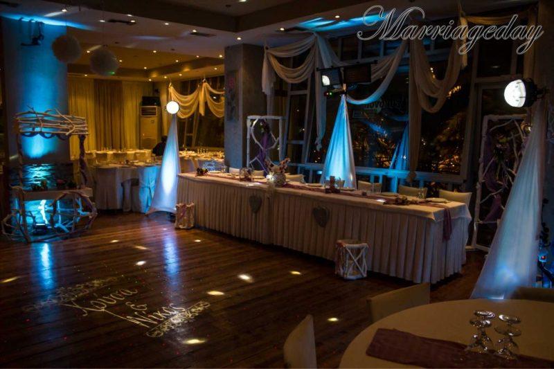 WEDDING DJS IN GREECE SANTORINI MYKONOS CUSTOM MONOGRAM PROJECTION GOBO 3