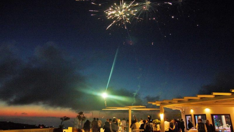 WEDDING DJS IN GREECE SANTORINI MYKONOS GROUND AERIAL FIREWORK 2