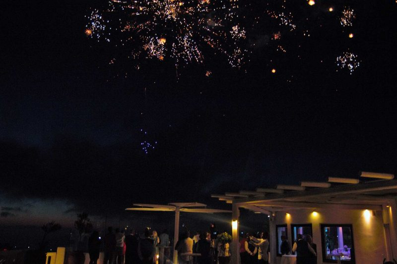 WEDDING DJS IN GREECE SANTORINI MYKONOS GROUND AERIAL FIREWORK 4
