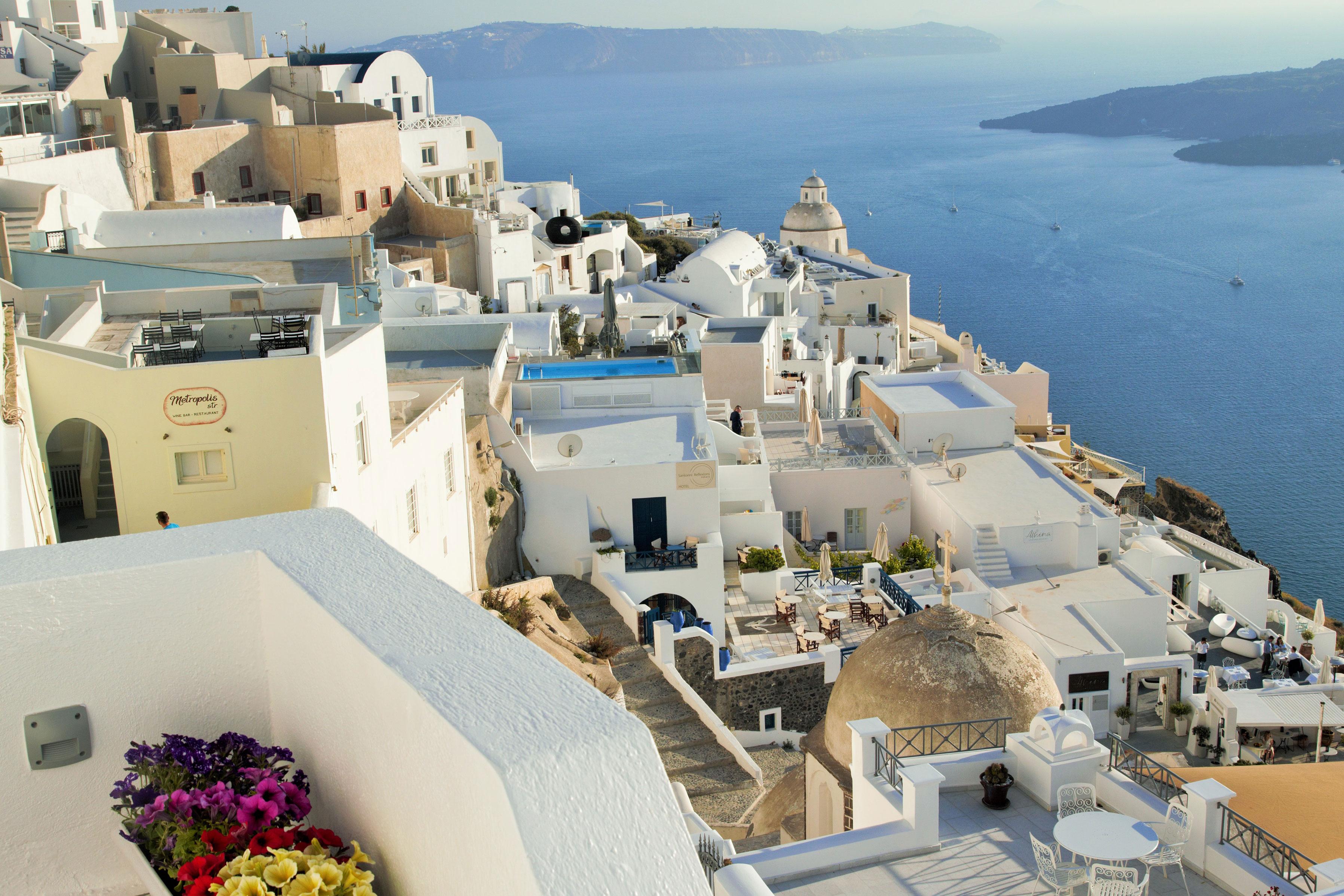 Beautiful view of Caldera Santorini