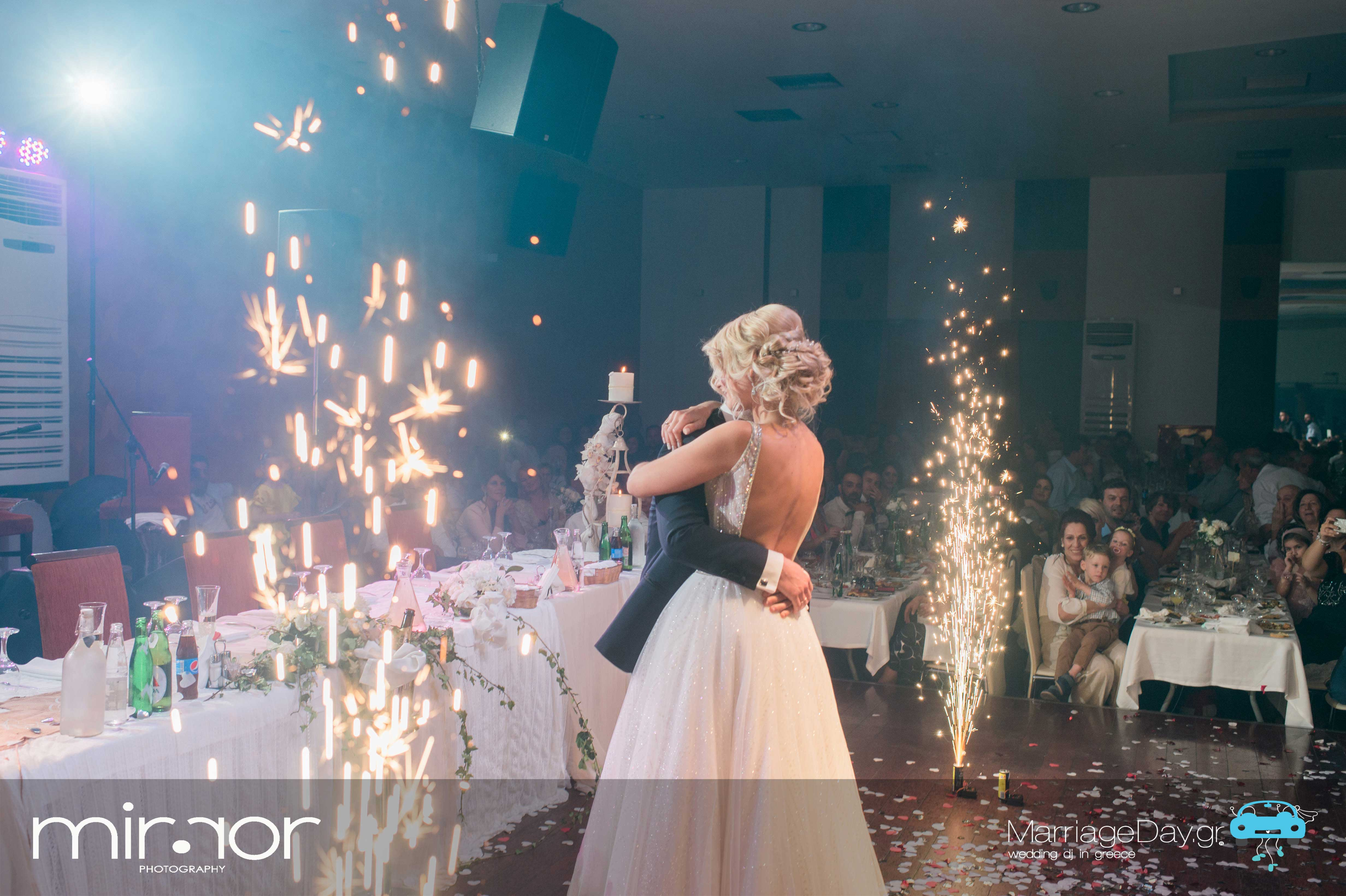 Marriageday.gr | Floor fountain | Impressive effect for first dance.