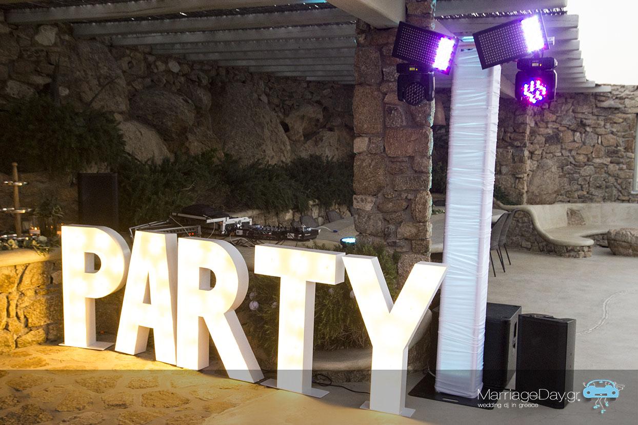 Marriageday Mykonos set up at a villa 4 72
