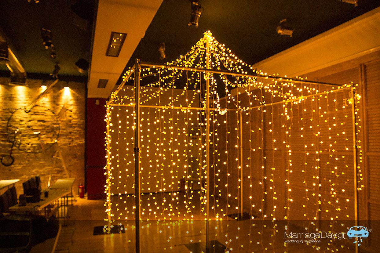 fairy lights canopy Marriageday 72